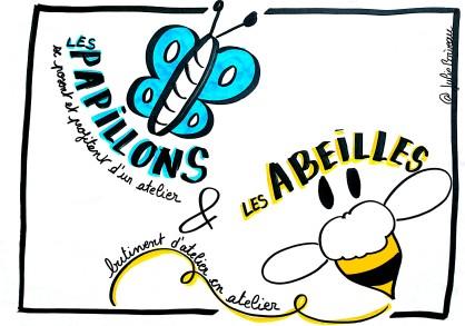 Les papillons et les abeilles